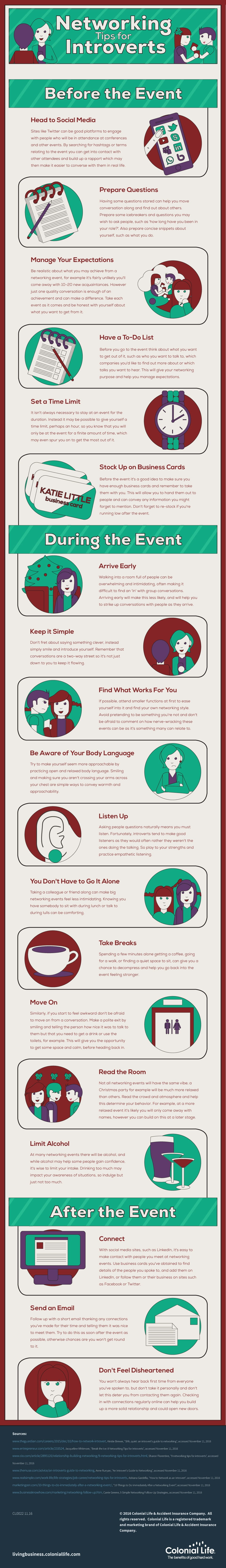 Networking tips for introverts - infographic