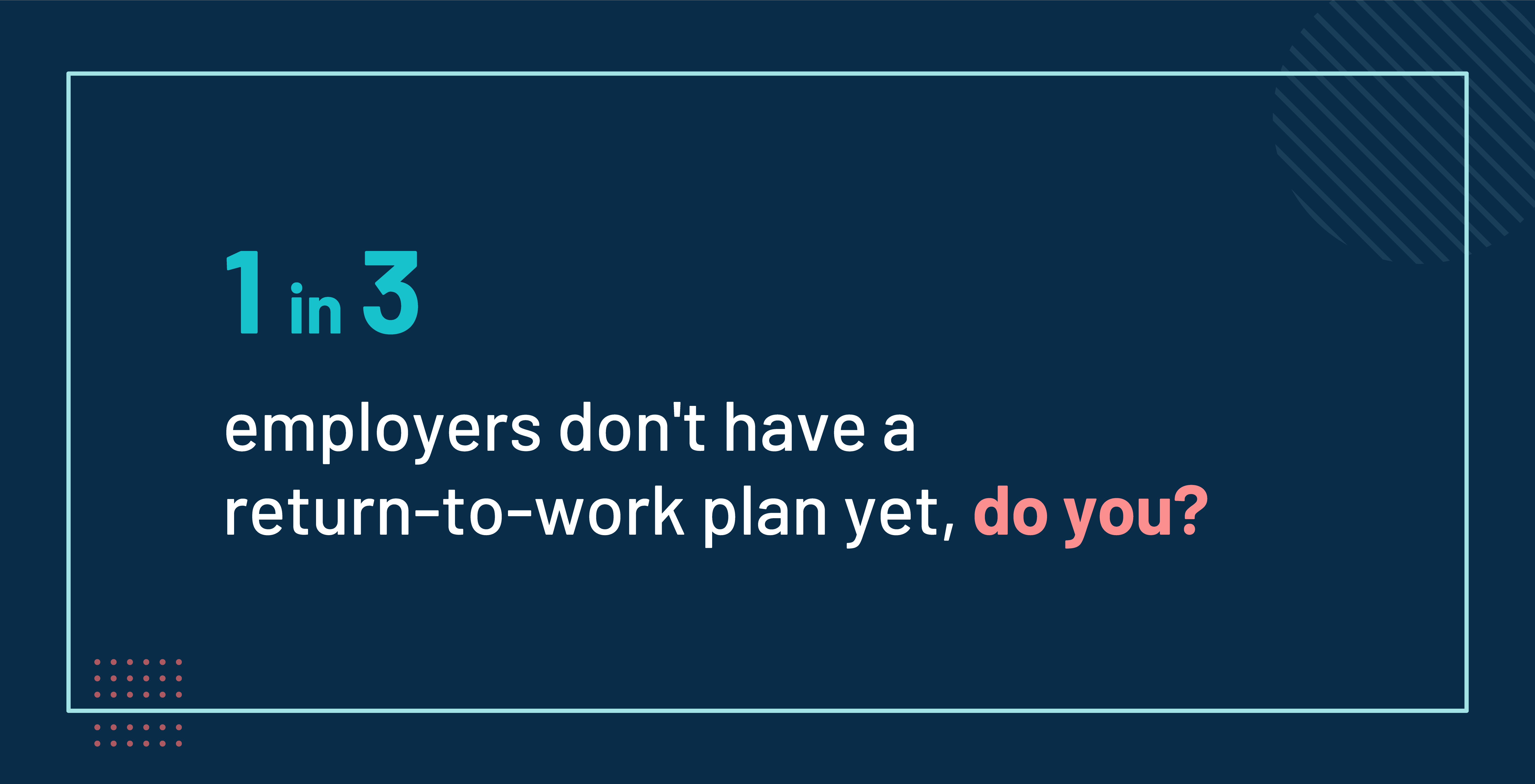 1 in 3 employers